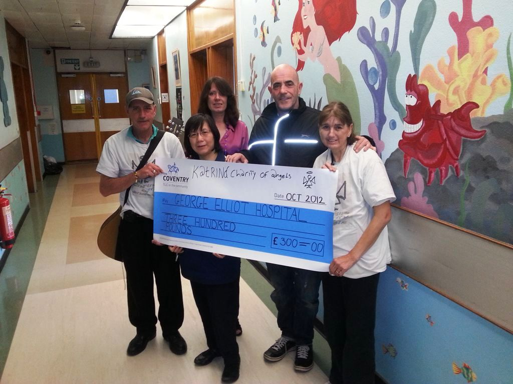 Cheque handover to Special Care Baby Unit