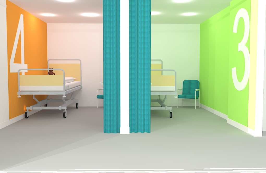 Paediatric Assessment Unit bed bays