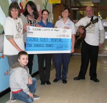Charity of Angels cheque handover
