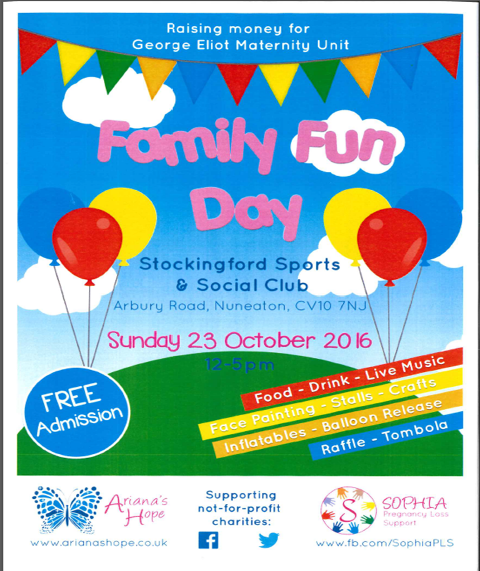 Maternity Family Fun Day Oct 2016