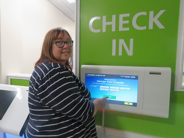 kiosk in outpatients