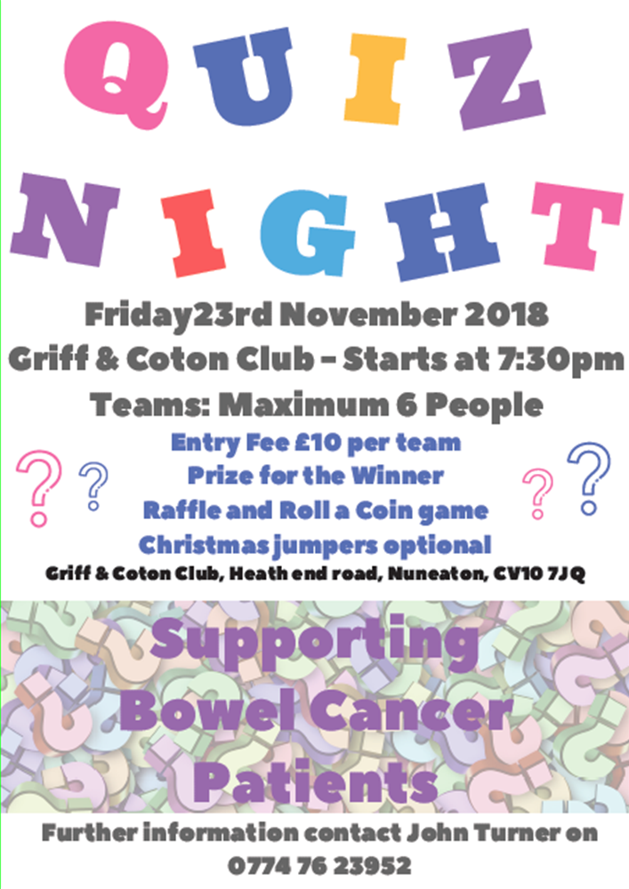 Quiz Night 23rd November