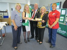 Mayor and Mayoress of Nuneaton and Bedworth with GEH Staff