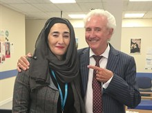Tony Christie and Shahana Khan