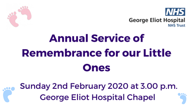 Annual Service of Remembrance for our Little Ones Sunday 2020